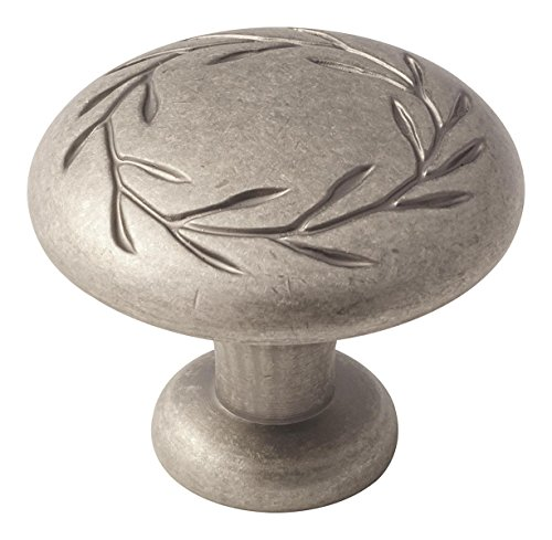 Amerock BP1581-2-WN Oversized Leaf Knob 1-3/4-Inch Diameter, Weathered ()