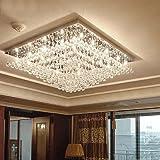 Moooni Crystal Chandeliers Single-Tier Rain Drop Crystal Ceiling Light Fixture Review