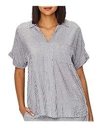 DKNY Seersucker Woven Pajama Top