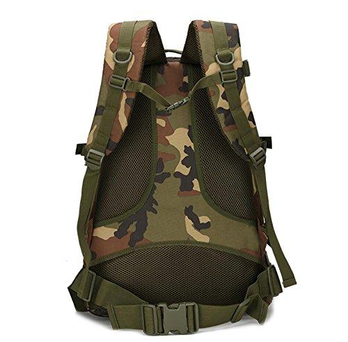 ZX&Q Upgraded 3D alpinismo viaje de camping al aire libre cómodo transpirable resistente al desgaste resistente al desgarro de gran capacidad multi-color opcional 30L doble hombro mochila,black,30L E