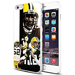 NFL Green Bay Packers Star PlayerS Cool Case Cover For Apple Iphone 6 Plus 5.5 Inch Smartphone Collector iphone PC Hard Case White