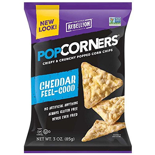 (Popcorners White Cheddar Corn Chips, 3 Ounce - 6 per case.)