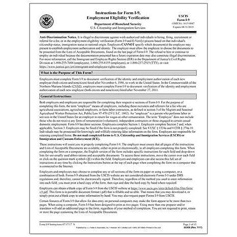 Amazon.com : Form I-10 Employment Eligibility Verification ...