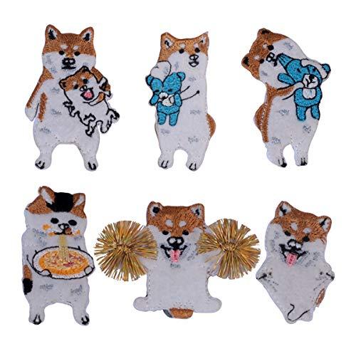 Shiba Inu Dog Pin Set Cute Corgi Puppy Animals Enamel-Liked Lapel Brooch Pin for Badges, Clothes, Bags, Backpacks, Party Decoration ()