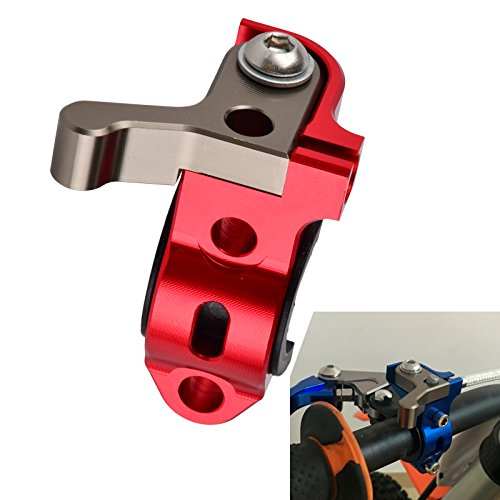 NICECNC Red Rotating Bar Clamp Hot Start Lever for XR250L 1996 XR250R 1990-2004 XR400R 1996-2004 XR600R 1990-2000 XR650L/R 2000-2007 - Hot Start Lever