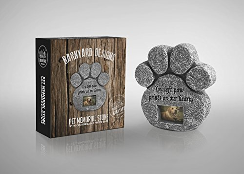 You-Left-Paw-Prints-On-Our-Hearts-Paw-Print-Pet-Memorial-Stone-with-Photo-Frame-Loss-Of-Pet-Gift-Dog-or-Cat-Grave