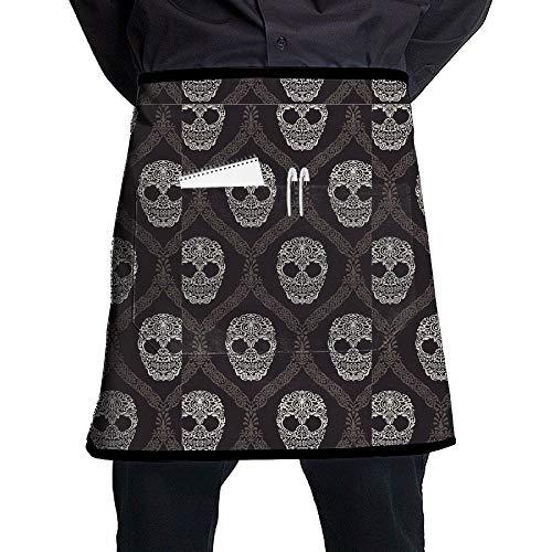 (GHDSKH Skeleton Waist Aprons Commercial Restaurant Home Bib Spun Poly Polyester Kitchen for Unisex)