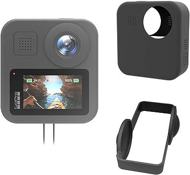 TUTUO Funda de Silicona para GoPro MAX,(Negro), Estuche de Silicona Suave antiarañazos/Resistente a caídas para la cámara de acción GoPro MAX: Amazon.es: Electrónica