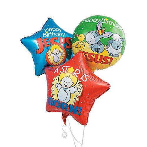 - Happy Birthday Jesus Mylar Balloons