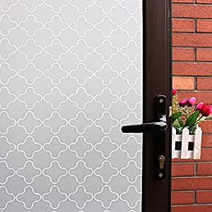 Non Adhesive Window Film Static Privacy Glass Film Frosted Window Cling Glass Decoration & Amazon.com: Non Adhesive Window Film Static Privacy Glass Film ...