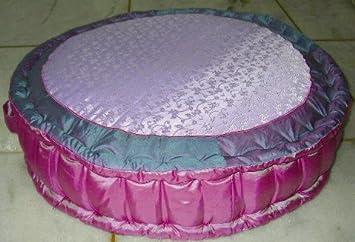 Amazon.com: Jaipuri Purple & Pink Floor Pillow 26 inch Round: Baby