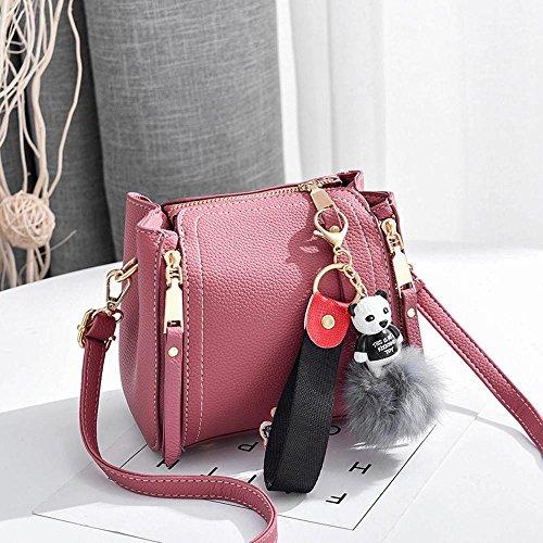 Aoligei Bolso Mujer pequeño Cuadrado Baotan Hombro Messenger Bolsa Simple Moda Elegante clásico Temperamento coincida con B