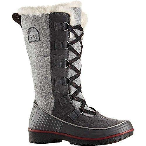 SOREL Tivoli High II Boot - Women's (5 B(M) US, Dark Grey/Red Dahlia)