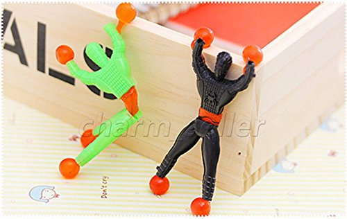 MAZIMARK--Toys 3pcs Color Random Flexible Men Sticky Wall Climbing Flip Spider Man For - Natural Kings Man Grill