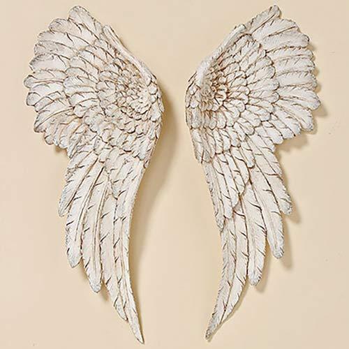 Wall decoration Angel wings Length 55 cm white Resin B&B