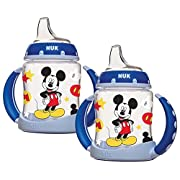 NUK Disney Learner Cup with Silicone Spout, Mickey Mouse, 5-Ounce, 2 Count