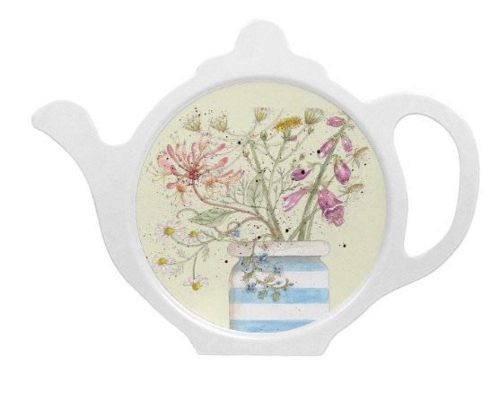 Honeysuckle Tea Bag Tidy Caroline Cleave Design Teabag Holder Rest Emma Ball