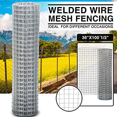 """24"""" 36"""" 48"""" Galvanized Welded Wire Mesh Hardware Cloth Safeguard Fencing (36"""" X 100' 1/2"""")"""
