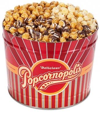 Popcornopolis Classic 3 Flavor Caramel, Kettle & Zebra Tin