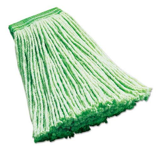 Rubbermaid F136LGR Synthetic Wet Mop Heads Green 16 oz 5'' Headband 6/Carton by Rubbermaid Commercial