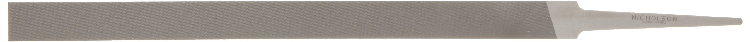 Nicholson Pillar File, Swiss Pattern, Double Cut, Rectangular, #2 Coarseness, 8'' Length