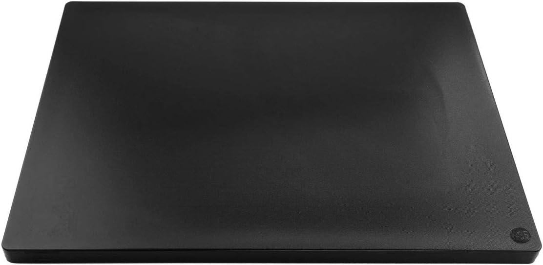 Restaurant Thick Black Plastic Cutting Board NSF, Extra Large 24 x 18 x 1 Inch
