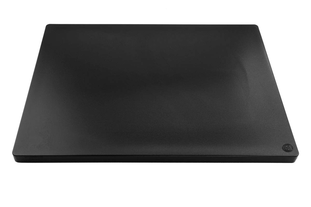 Restaurant Thick Black Plastic Cutting Board NSF, Extra Large 24 x 18 x 1 Inch