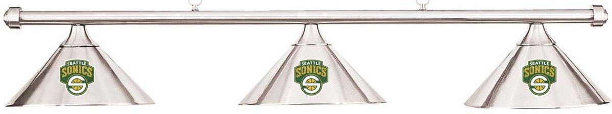 Imperial NBA Seattle Super Sonicsクロムシェード&クロムバービリヤードプールテーブルライト B01LZB8NW5