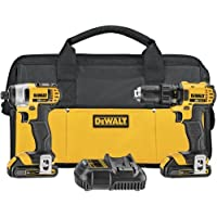 Dewalt DCK280C2 20 Volt Max Li-Ion 1.5 Ah Drill & Driver Combo Kit with 2 Batteries, Charger and Soft Case