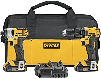 Dewalt 20V 1.5Ah Compact Drill Combo Kit with 2 Batteries & Charger