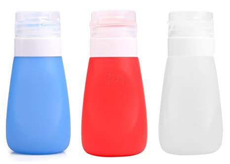 holzsammlung® a prueba de fugas de silicona botellas de viaje – Juego de petaca (