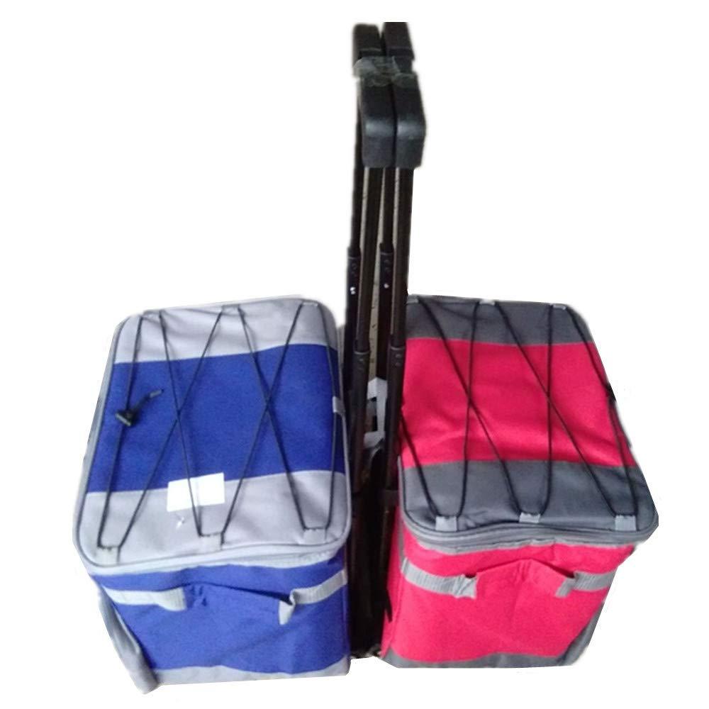 ドローバー多機能アイスバッグトラベルピクニックバッグ屋外キャンプバーベキュー釣り冷蔵バッグシーフードアイスバッグ (Color : Blue) B07K43WNB6 Blue
