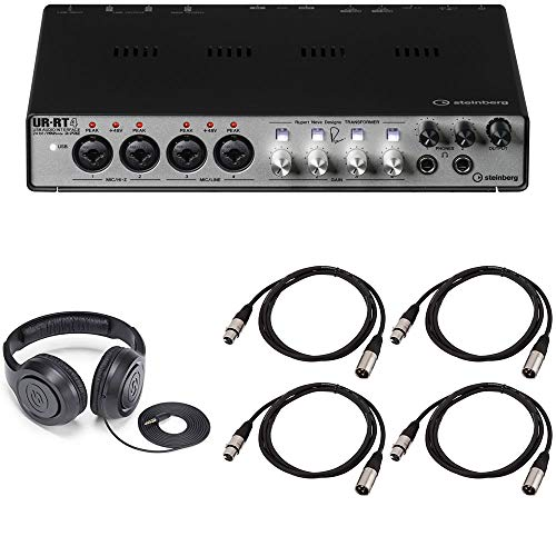 Steinberg UR-RT4 USB Audio Interface Bundled with MAGIX Acid Pro 8 Music Production Software, Over-Ear Headphones and 4 x 15-Ft XLR Cables