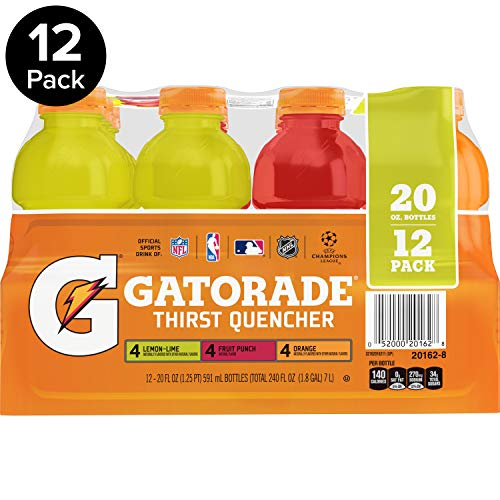 Gatorade Original Thirst Quencher Variety Pack, 20 Ounce Bottles (Pack of 12) (The Best Thirst Quencher)