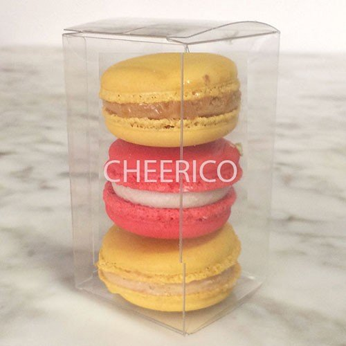 25 Sets of Clear Macaron Boxes for 3 Macarons ($1.1 Per Macaron Box)