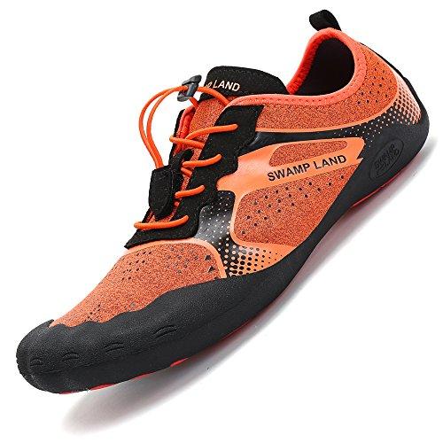 Pastaza Outdoor Sport Fitnessschuhe Herren Geschlossen Weich Rutschfest Barfußschuhe Damen Sommer Leicht Atmungsaktiv Wanderschuhe Orange