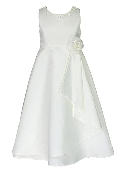 70b458a86 Amazon.com: go2victoria Occasion Flower Girl Dress in White & Colors Sash 2  to 12 Years: Clothing