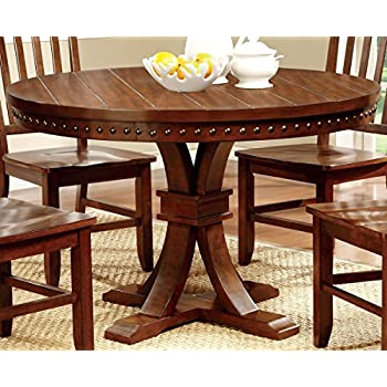 Furniture Of America Castile Transitional Round Dining Table, Dark Oak Part 66