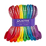 LA Active Baby Toddler Grip Ankle Socks - 6 Pairs