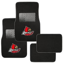 Pilot Alumni Group FM-984 Universal Fit Four Piece Floor Mat Set (Collegiate Louisville Cardinals)