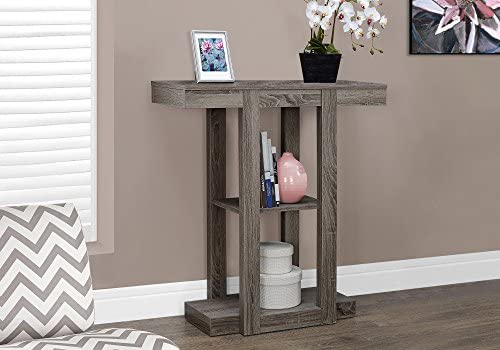 Monarch Specialties 32 Hall Console Accent Table, 32 , Dark Taupe
