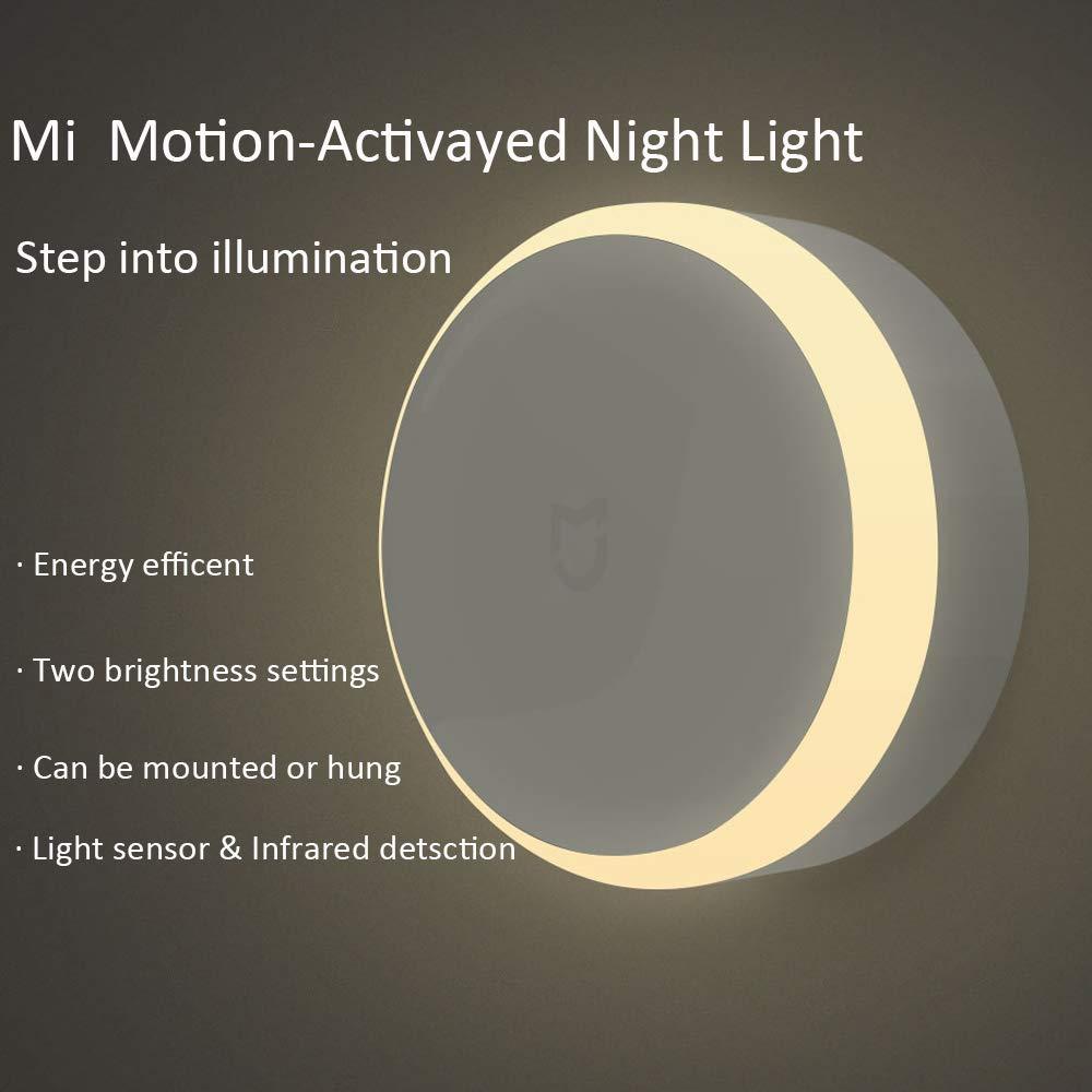 Xiaomi Mijia Luz de Noche, Inteligente LED Luz de Noche Sensor Infrarrojo de Control Remoto Motion Sensor Lámpara Nocturna de Brillo Ajustable para el hogar ...