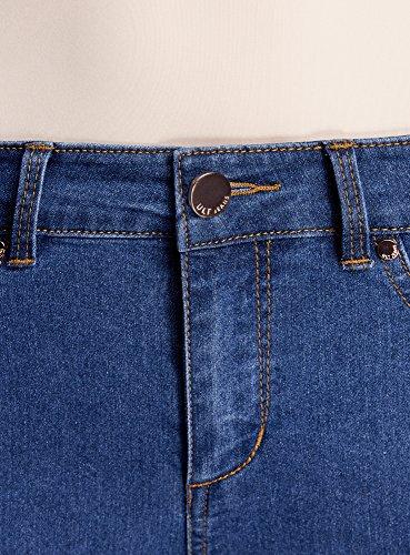 Ultra Skinny oodji Mujer 7500w Vaqueros Azul de Cintura Tobilleros Alta 7dSBq