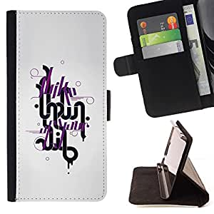 DEVIL CASE - FOR Samsung Galaxy S4 IV I9500 - Funny I Like Typography Message - Style PU Leather Case Wallet Flip Stand Flap Closure Cover
