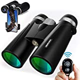 APECORE PRO Vision II 12×42 HD Binoculars for Adults with Low Light Night Vision, Compact Binocular for Bird Watching Hunting Travel Stargazing Sports Concerts, BAK4 Prism FMC Lens with Phone Adapter For Sale