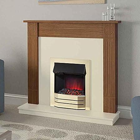 Be Modern Radley Electric Fireplace Remote Control Natural Oak 42