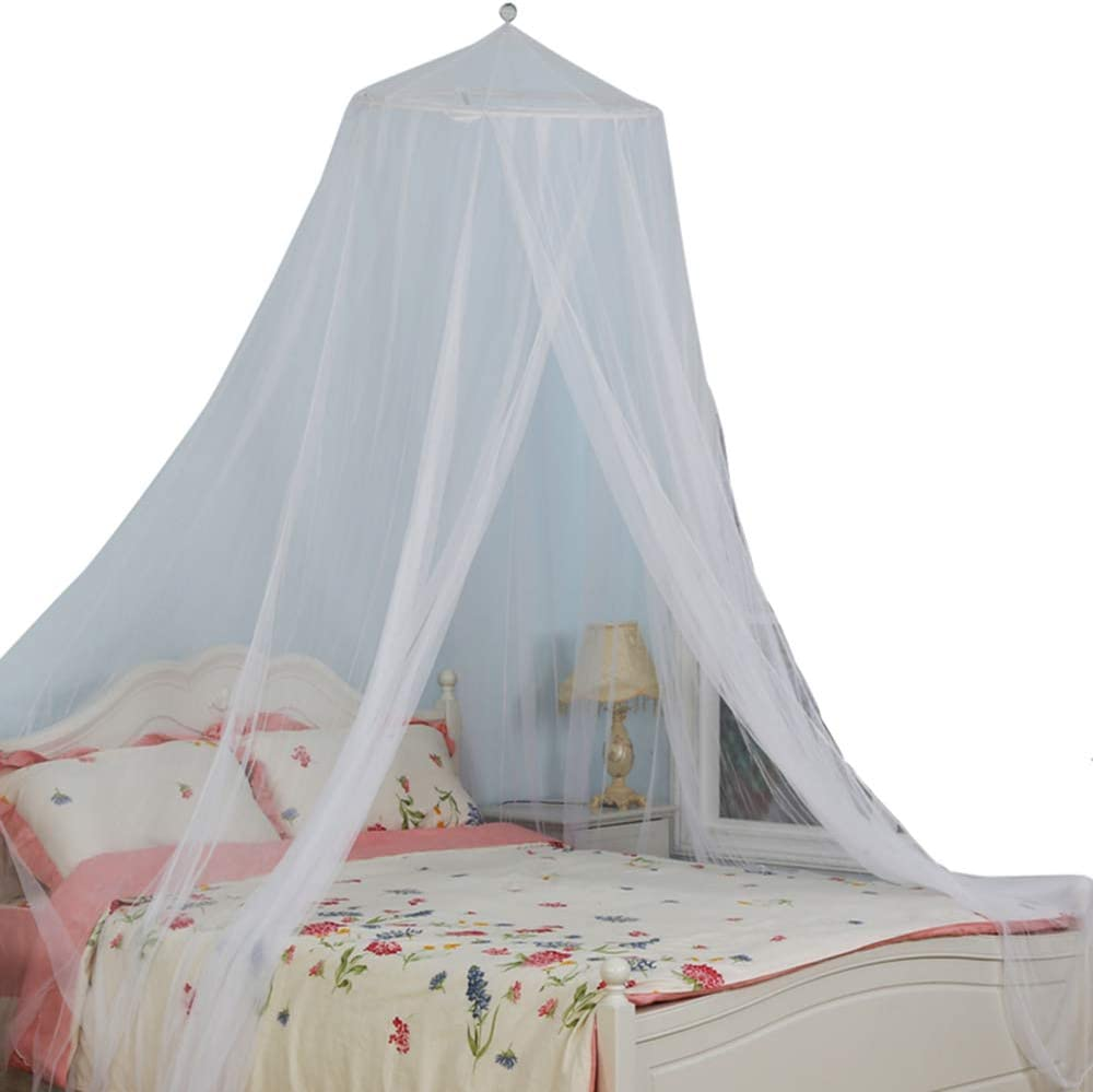 South To East King Size Bed Canopy, White Color Mosquito Net for Indoor/Outdoor, Camping or Bedroom Fit A King Size Bed, Made by Fire Retardant Fabric: Sports & Outdoors