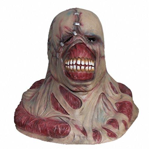 [Resident Evil Tyrant Horror Mask Mens Cosplay Props Zombie Famous Movie Costume Helmet Dress Up Masks x14008] (Resident Evil Fancy Dress Costume)