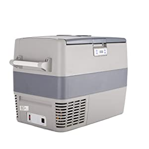 SMETA 43Quarts Travle Portable Refrigerator with Freezer Dual Zone Compact Vehicle Car Compressor Freezer/Fridge for Truck Party, Travel, Picnic Outdoor, Camping (0℉~50℉)