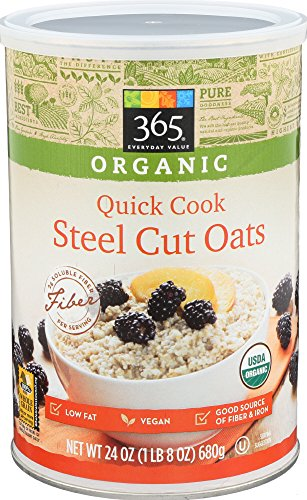 365 Everyday Value, Organic Quick Cook Steel Cut Oats, 24 Ounce